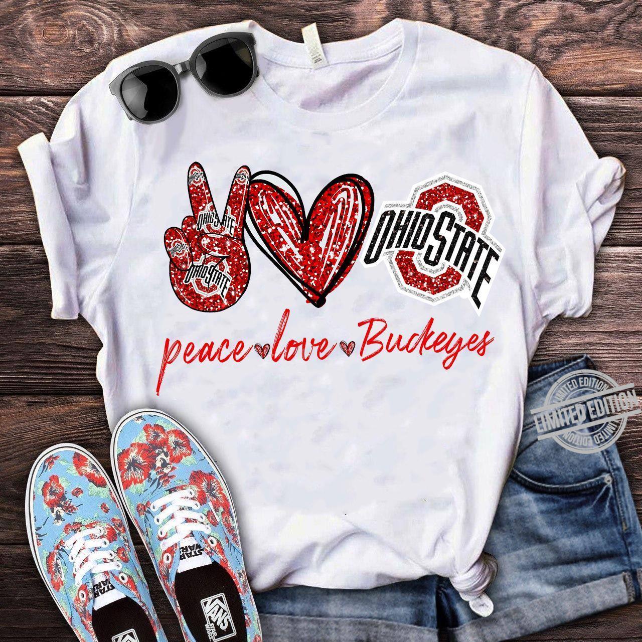 Ohio State Peace Love Buckeyes Shirt