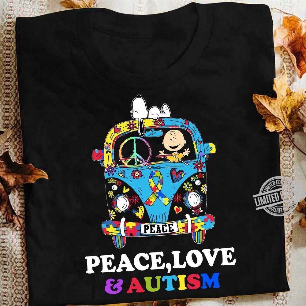 Peace Love & Autism Shirt
